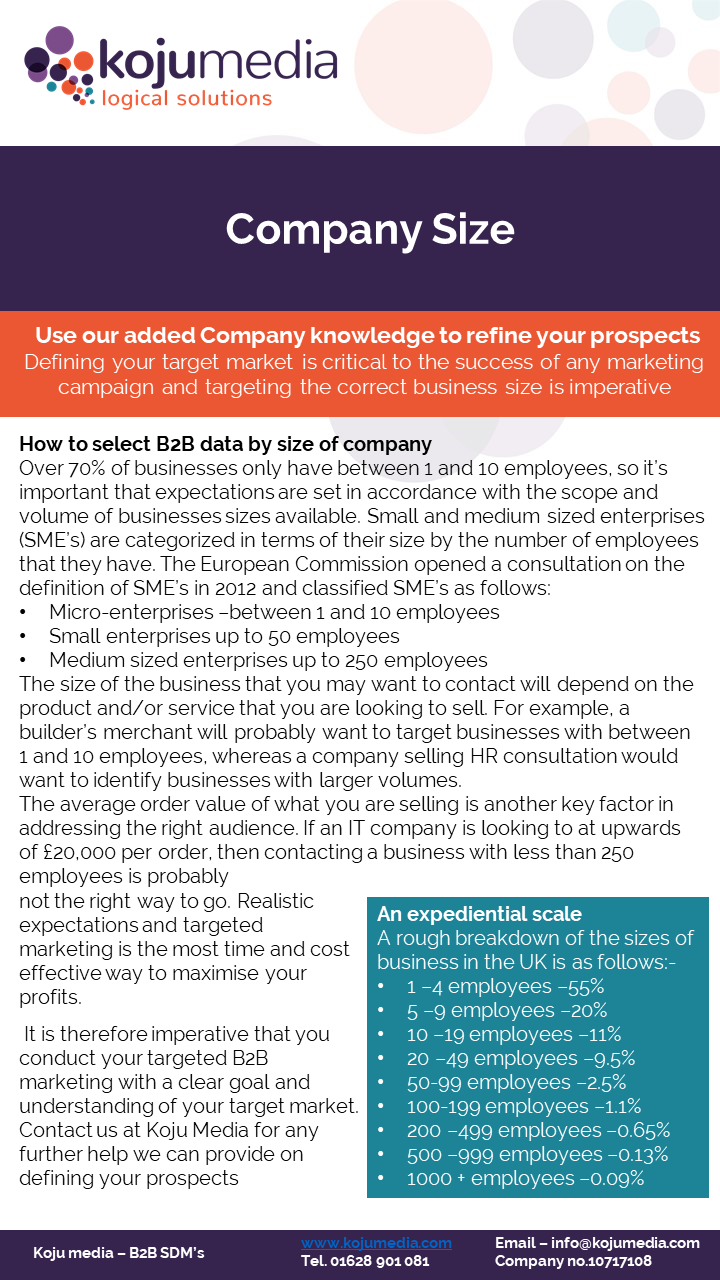 B2B Data - target better by using company size