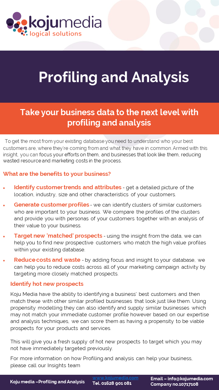 How we can help with Data Profiling and Analysis Factsheet